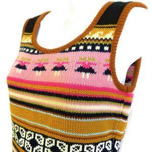 Retro Pullover Knit Vest 60s USA Stripe Pattern